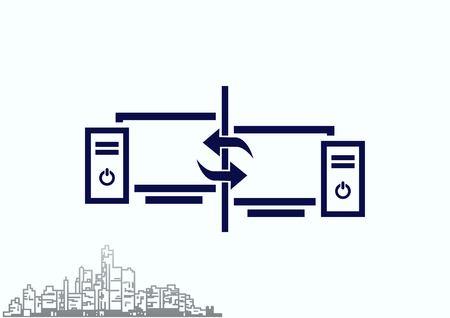 safeguards: Computer, laptop icon Illustration