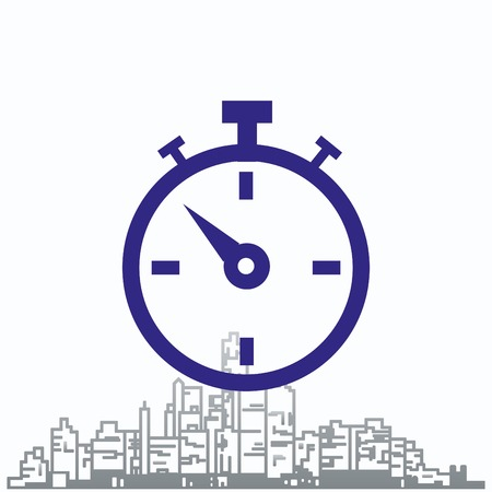 Watch stopwatch icon. Vector illustration.