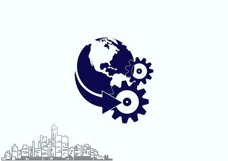 Spare parts icon. Vector illustration.
