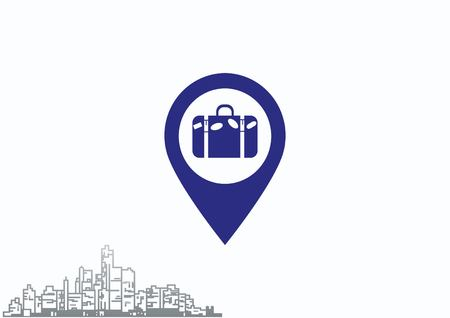 paper pin: Navigator Guide itinerary icon Illustration