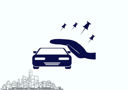 Car icon illustration.