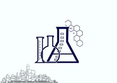 Laboratory equipment, chemistry, science icon. Vector illustration.