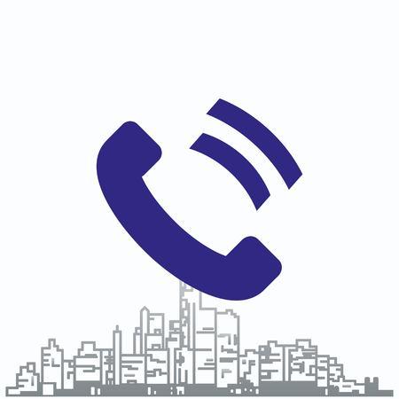 smartphone apps: Phone, communication icon. Vector illustration.