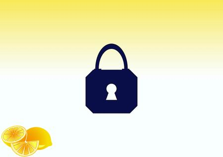 Lock, safety, security icon Stock Vector - 79837137