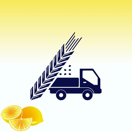 rye: Farm products  , Retro landscapes. Editable EPS10 vector illustration, Agriculture field.
