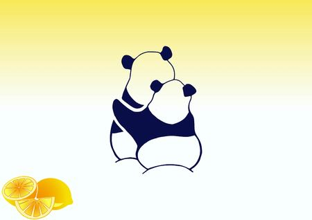 Vector illustration of a panda.