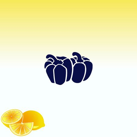 Bell pepper icon. Vegetables icon. Illustration