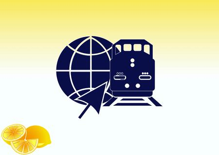 electric train: Freight train icon