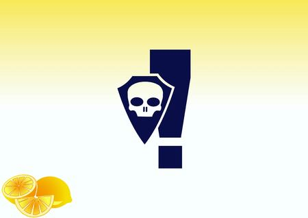 yellow beware: Exclamation danger sign Illustration