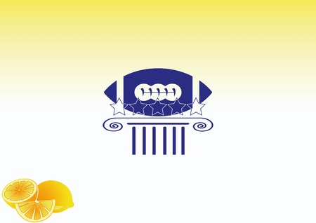 soccer goal: Equipment  American Football And Rugby icon Illustration
