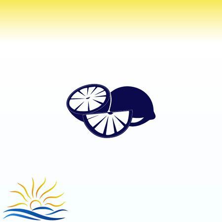 Lemon icon. Fruit icon. vector illustration.
