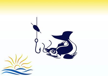 fisher: Fishing icon. Vector illustration. Illustration