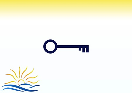 metal doors: Pictograph of key icon vector illustration.