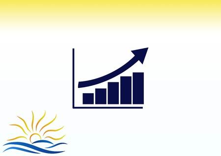 Diagram icon illustration.