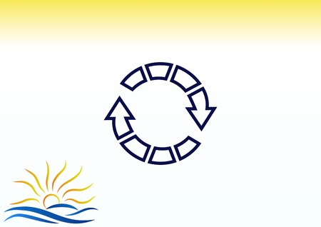 designator: Arrow indicates the direction icon vector illustration.