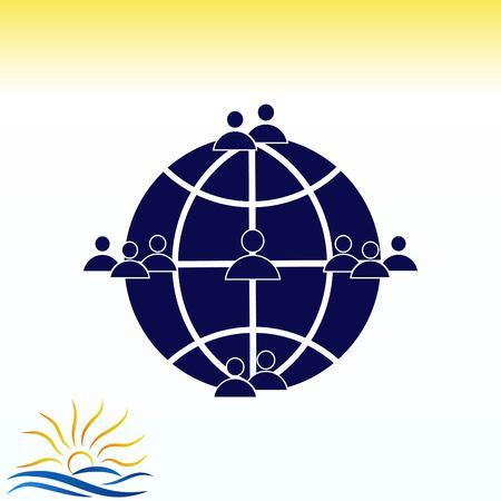button: Friendship icon illustration.