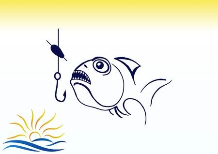 Fishing icon Vector illustration. Illustration