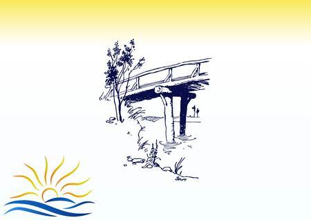 Retro landscapes vector illustration