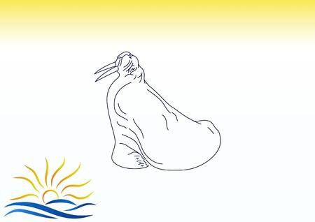 crabby: Walrus, seal icon. Vector illustration. Illustration