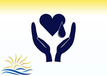 electrocardiograma: Human heart, Cardiology resuscitation icon vector illustration. Vectores