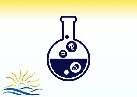 실험실 장비, 화학, 과학 아이콘 벡터 일러스트 레이 션.