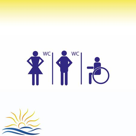 Symbols inlet to the toilet  icon vector illustration.
