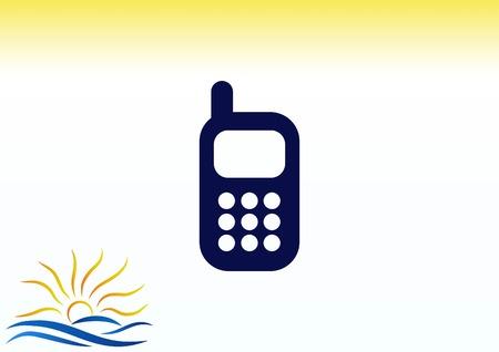 Phone talk icon vector illustration.