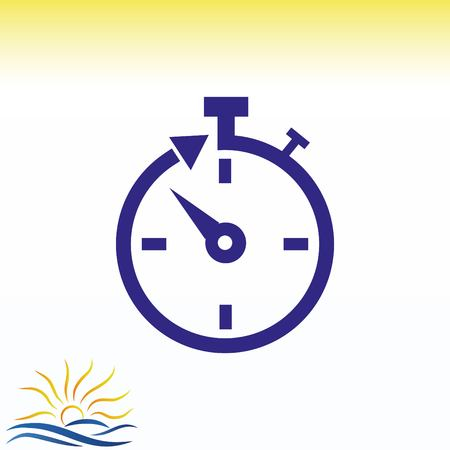 Watch stopwatch icon vector illustration.