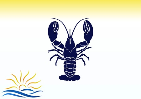 Lobster, cancer icon. Vector illustration. Logo, graphics, seafood. Marine reptile.