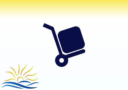 Shopping trolley, cart icon, On line sale icon vector illustration.