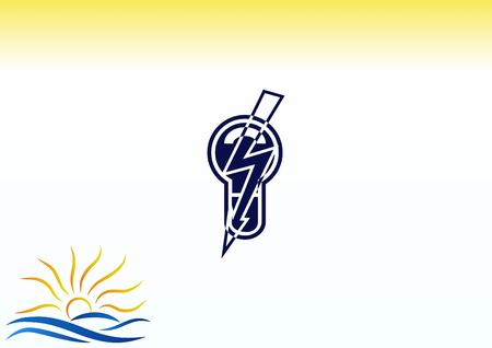 Light, bulb, electricity icon Illustration
