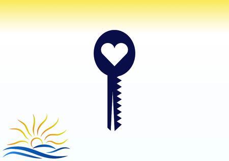 Pictograph of key icon Illustration