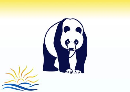 amusing: Vector illustration of a panda.