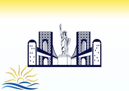 City silhouette icon. Vector Illustration. logo New York Illustration