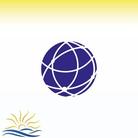 Holding globe, social network icon