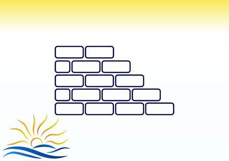 Bricks (brickwork, masonry), icon Ilustrace
