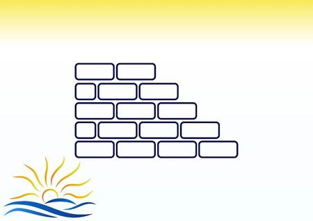 Bricks (brickwork, masonry), icon