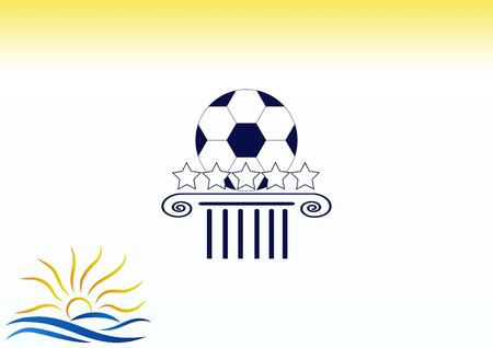 soccer goal: Football isolated on a white icon