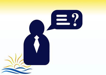 pictograph: faq icon, question icon. Illustration