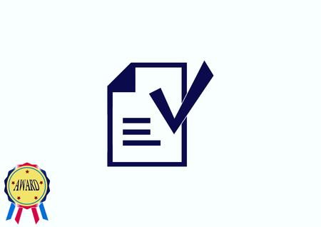 calculating: Check mark symbol,vector icon Illustration