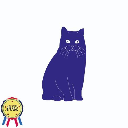 labrador: Cat icon Illustration