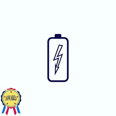 電池、充電アイコン