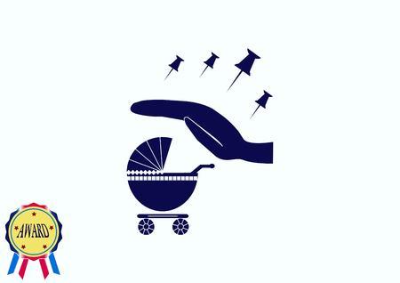 Kinderwagen-Symbol Standard-Bild - 81082192