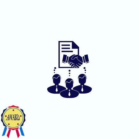 consult: Agreement icon Illustration