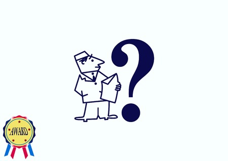 faq icon, question icon. Illustration