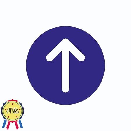 designator: Arrow indicates the direction icon