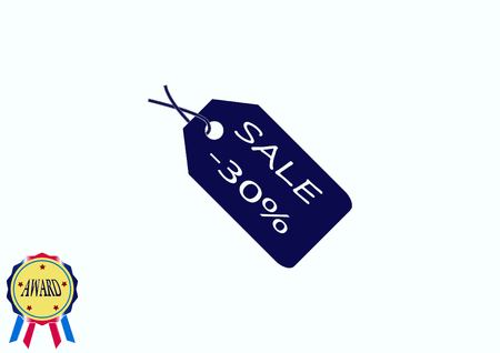 codigos de barra: SALE tag icon, vector illustration. Flat design style Vectores