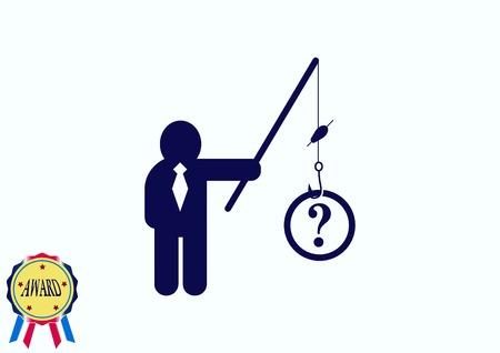 faq icon, question icon. Illustration