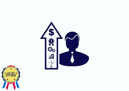 mentality: Business strategy icon, business concept icon, vector illustration.