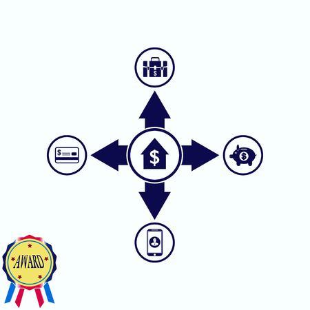 Internet banking icon. Illustration